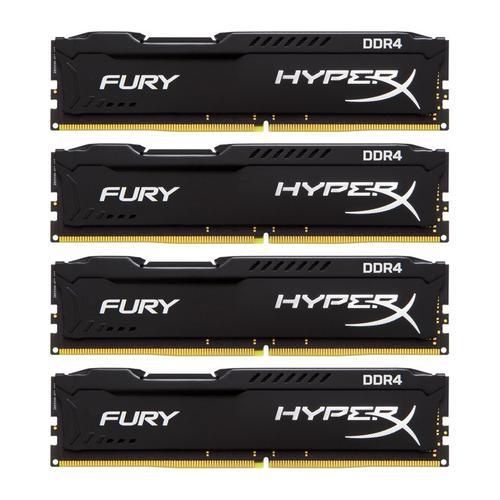Kingston HyperX Fury Black 32GB (4x8GB) Memory Kit PC4-23400 2933MHz DDR4 CL17 288-Pin DIMM 1.2V