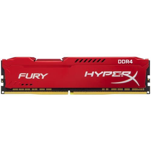 Kingston HyperX FURY Red 8GB (1x 8GB) Memory Module PC4-25600 3200MHz DDR4 CL18 288 Pin DIMM 1.2V