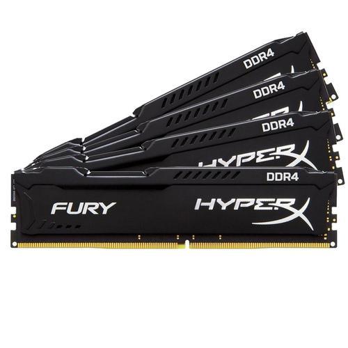 HyperX FURY Black 16GB (4x4GB) Memory Kit PC4-21300 2666MHz DDR4 Non-ECC