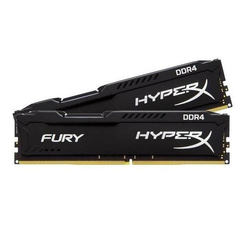 Kingston HyperX FURY Black 16GB (2x8GB) Memory Kit PC4-25600 3200MHz DDR4 CL18 288-Pin DIMM 1.2V