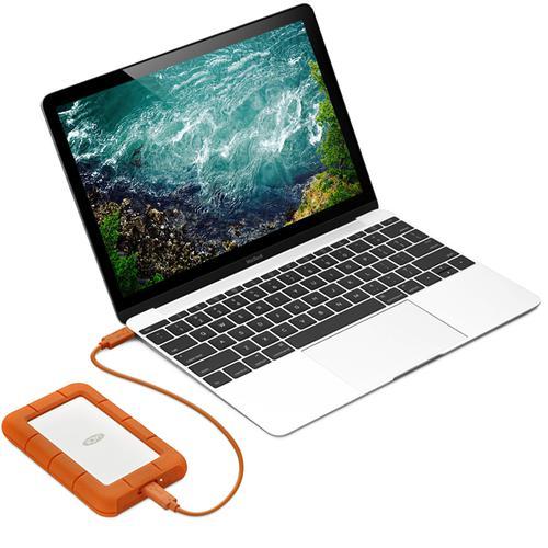 "LaCie Rugged 1TB Portable 2.5"" USB 3.0 HDD - 130MB/s"
