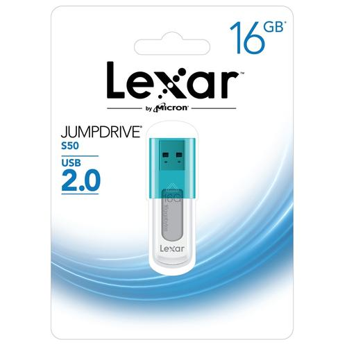 Lexar 16GB JumpDrive S50 USB Flash Drive - Blue