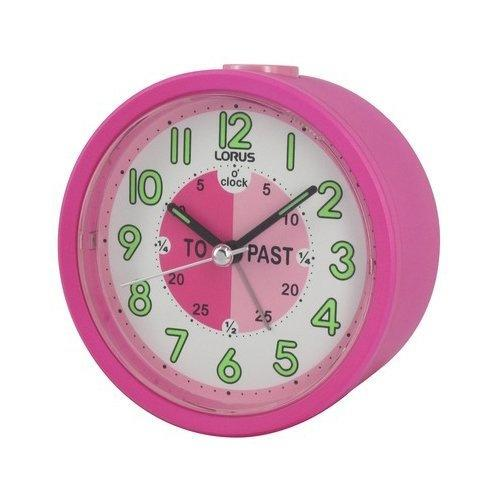 Lorus Time Teacher Beep Alarm Clock - Pink