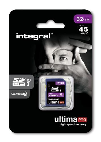 Integral 32GB UltimaPRO SD Card (SDHC) - 45MB/s