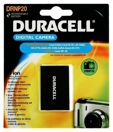 Duracell Casio NP-20 Camera Battery