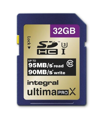 Integral 32GB UltimaPro X SDHC 95MB/s Class 10 Speicherkarte