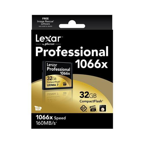 Lexar 32GB 1066X Professional Compact Flash Card - 160MB/s
