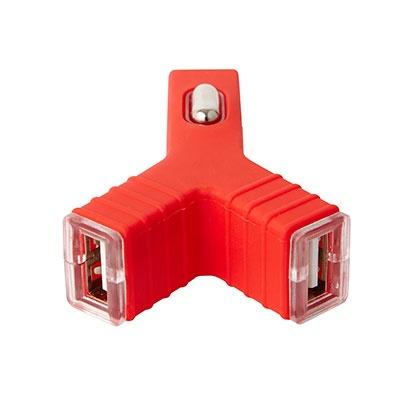 Groov-e 2.1A Dual USB Car Charger - Red