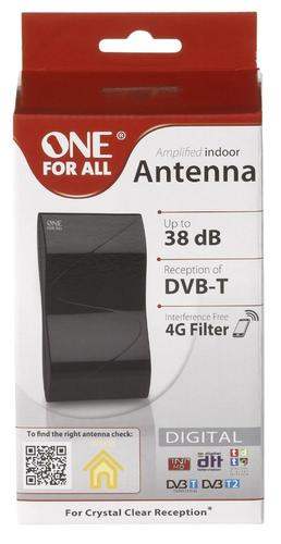One For All Digital Amplified Indoor TV Aerial with 4G Filter