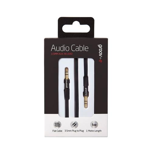 Groov-e 3.5mm Aux In Audio Flat Cable - 1M