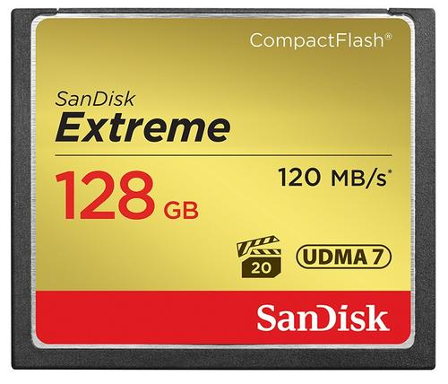 Sandisk 128GB Extreme 800X Compact Flash Card - 120MB/s
