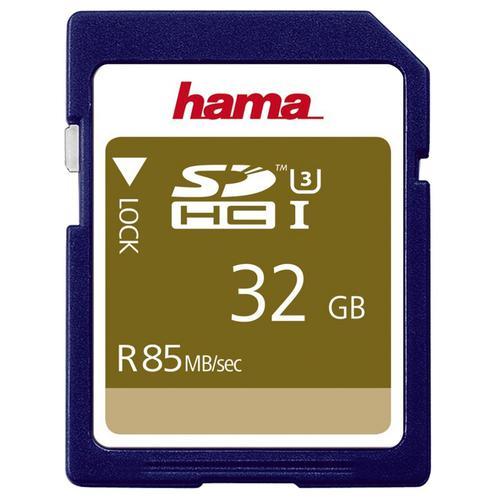 Hama 32GB SD Card (SDHC) UHS-I U3 - 85MB/s
