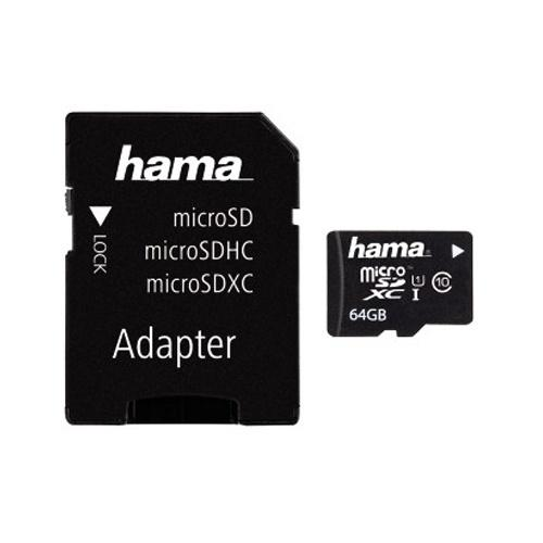 Hama 64GB Micro SD Card (SDXC) + Adapter - 10MB/s