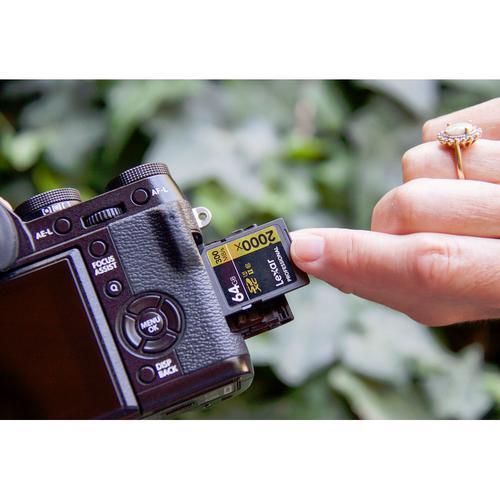 Lexar 64GB Professional SD Card (SDXC) UHS-II U3 - 300MB/s