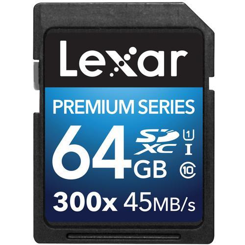 Lexar 64GB Premium II SD Card (SDXC) - 45MB/s