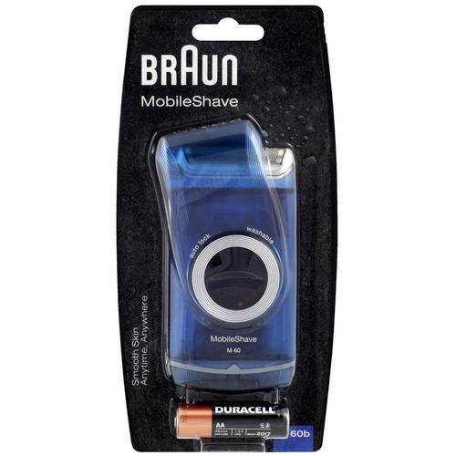 Braun MobileShave M-60B Portable Electric Shaver