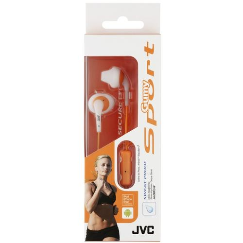 JVC Gumy Sport In Ear Headphones with Remote and Microphone - White