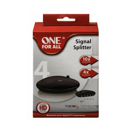 One For All 4 Way Amplified Signal Splitter (SV9542)