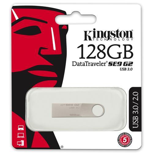 Kingston 128GB DataTraveler SE9 G2 USB 3.0 Flash Drive - 100Mb/s