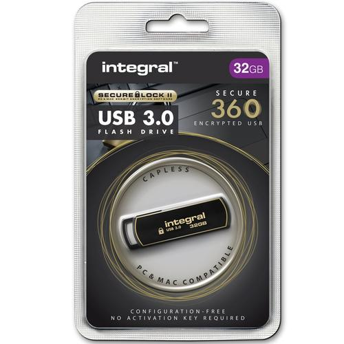 Integral 32GB Secure 360 Encrypted USB 3.0 Flash Drive