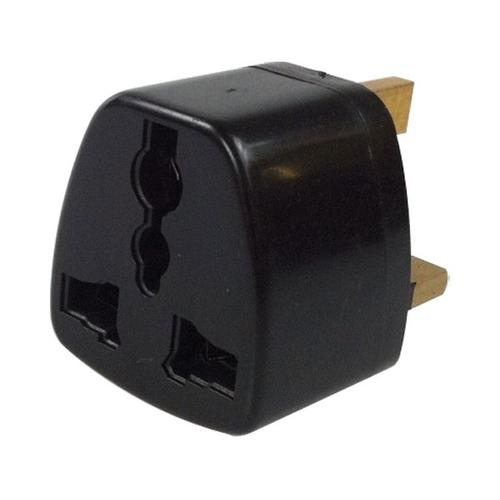EU/US/Japan to UK 3-Pin Plug Adapter