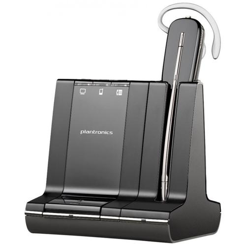 Plantronics Savi W745/A 3-in-1 Convertible UC Wireless DECT Headset System