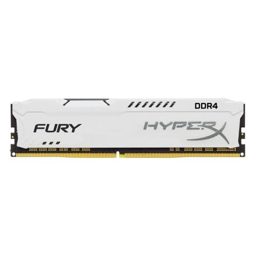 HyperX FURY White 8GB (1x8GB) Memory Module PC4-25600 3200MHz DDR4 CL18 288 Pin DIMM 1.2V