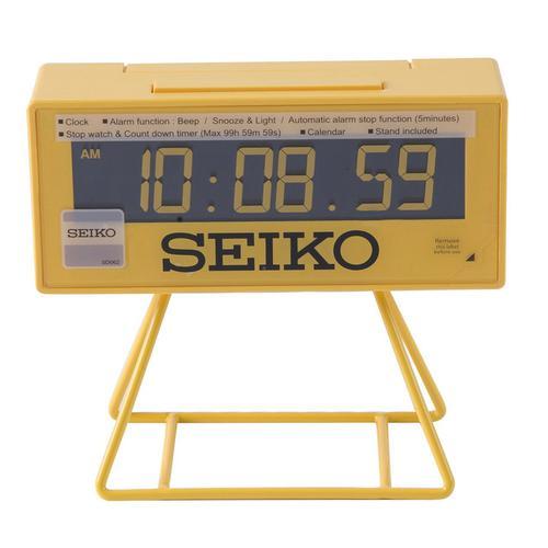 Seiko Countdown Style Sports Timing Clock - Yellow