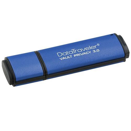 Kingston DataTraveler Vault Privacy Edition 16GB USB 3.0 Anti-Virus Flash Drive with 256-bit AES