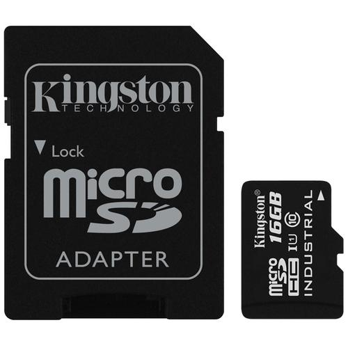 Kingston 16GB Industrial Micro SD Card (SDHC) + Adapter - 90MB/s