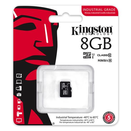 Kingston 8GB Industrial Micro SD Card (SDHC) - 90MB/s