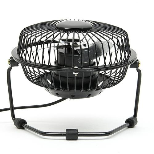 USB Fan with 360 Degrees Rotation - Black