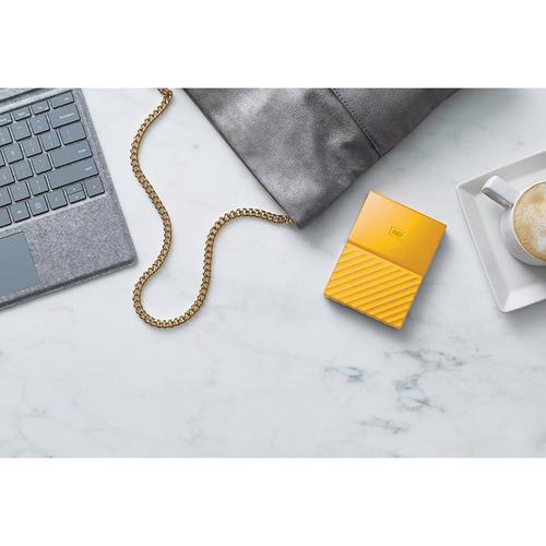Western Digital My Passport (2TB) USB 3 0 Portable Hard Drive (Yellow) -  460MB/s