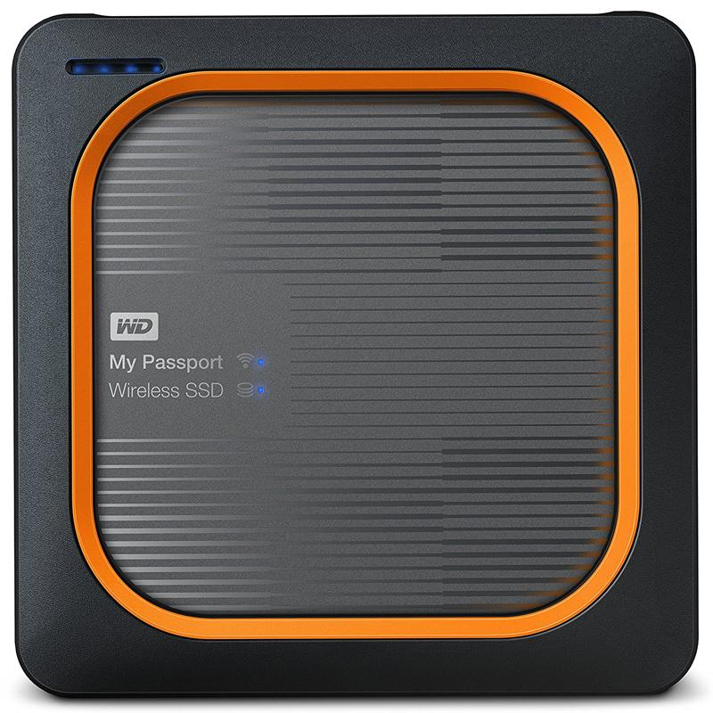 WD My Passport 2TB USB 3.0 Wireless SSD Drive - Black