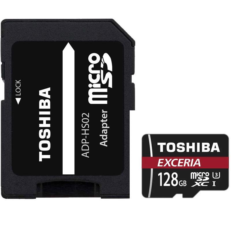 Toshiba 128GB Exceria Micro SD Card (SDXC) UHS-I U3 + Adapter - 90MB/s