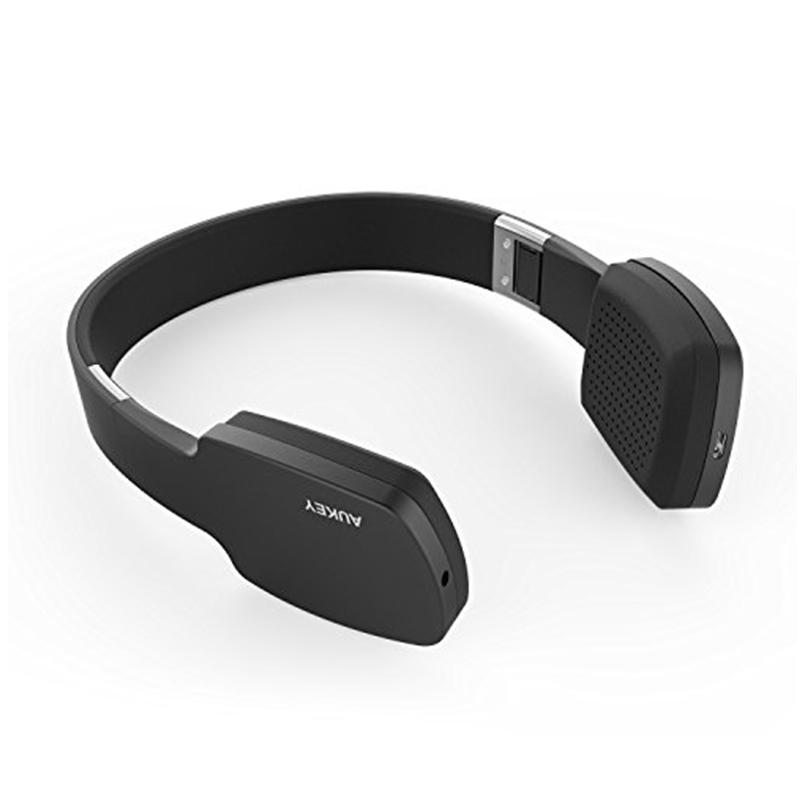 Aukey EP-B18 Wireless Headphones with Touch Controls and Mic - Black