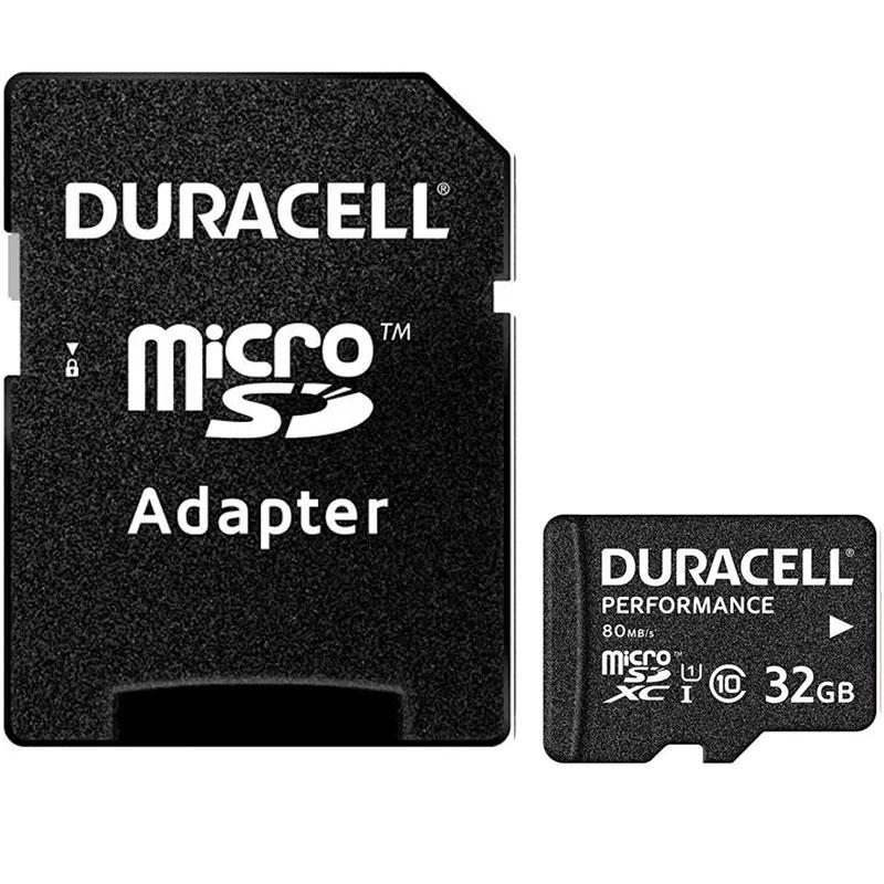 Duracell 32GB Performance Micro SD Card (SDHC) + Adapter