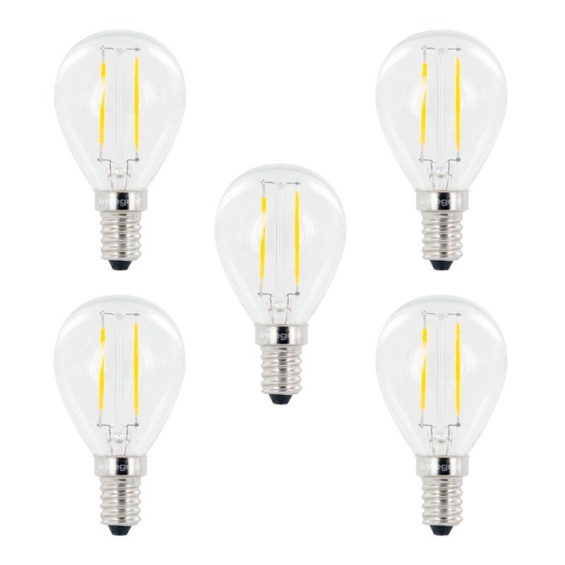 Integral LED Full Glass Mini Globe E14 2.8W (25W) 2700K Non-Dimmable Lamp - 5 Pack