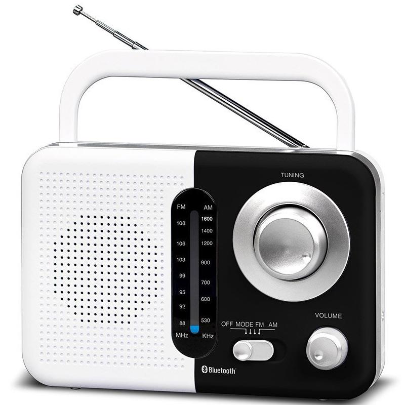 SoundZ BT USB SD AC/DC Portable Radio - White