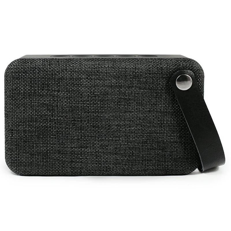 SoundZ Fabric Wireless Bluetooth Speaker - Black