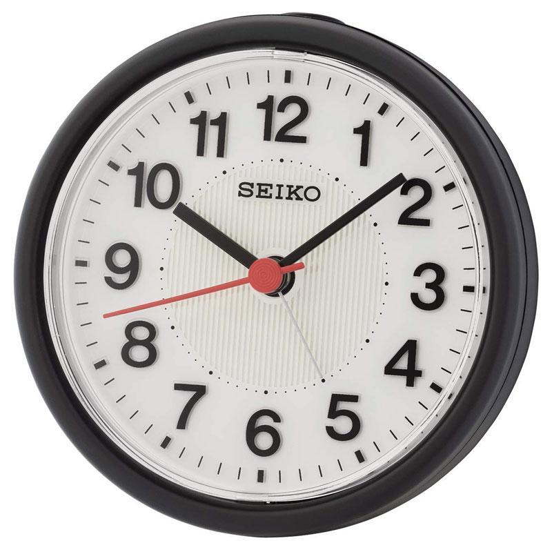 Seiko QHE159K Clock with Flashing Alarm - Black