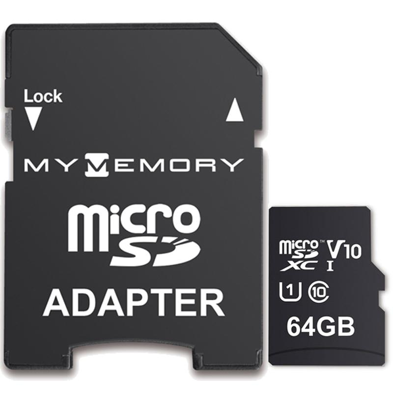 MyMemory 64GB V10 High Speed Micro SD (SDXC) UHS-1 U1 + Adapter - 100MB/s