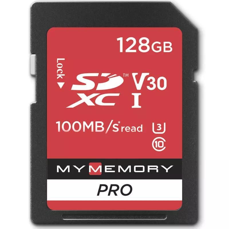 MyMemory 128GB V30 Premium High Speed SD Card (SDXC) UHS-1 U3 - 100MB/s