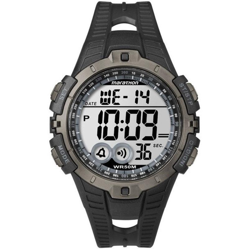 Timex Mens Marathon Full-Size Digital Watch - Black/Grey