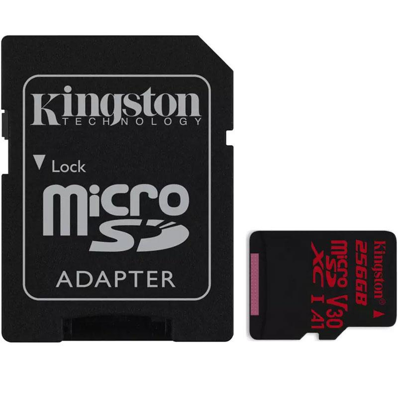 Kingston 256GB Canvas React Micro SD Card (SDXC) UHS-I U3 V30 + Adapter - 100MB/s