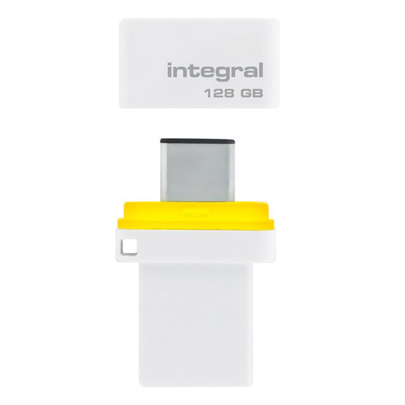 Integral 128GB Fusion Dual USB-C & USB 3.1 Flash Drive - 200MB/s