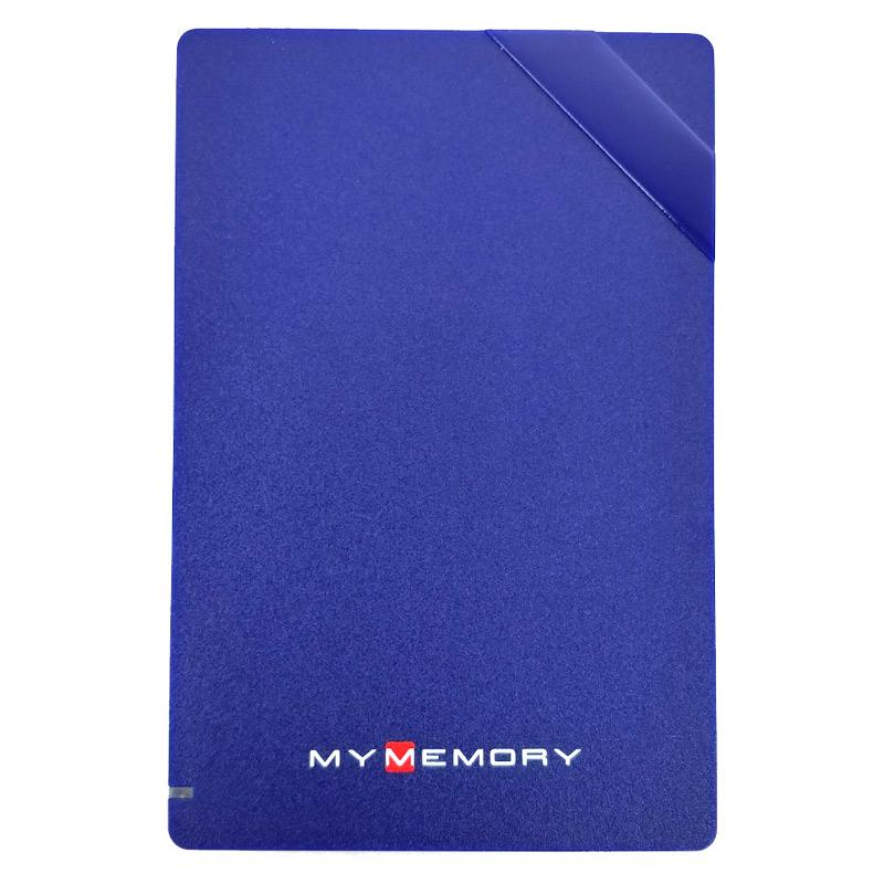MyMemory 500GB USB 3.0 Portable Hard Drive - Blue