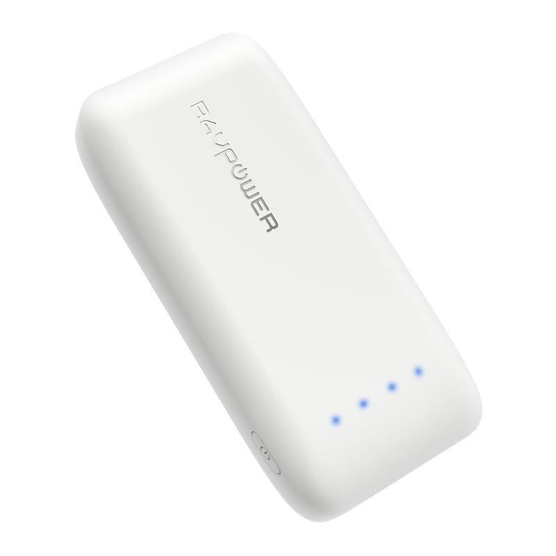 RAVPower 2.4A 6700mAh Portable Power Bank - White