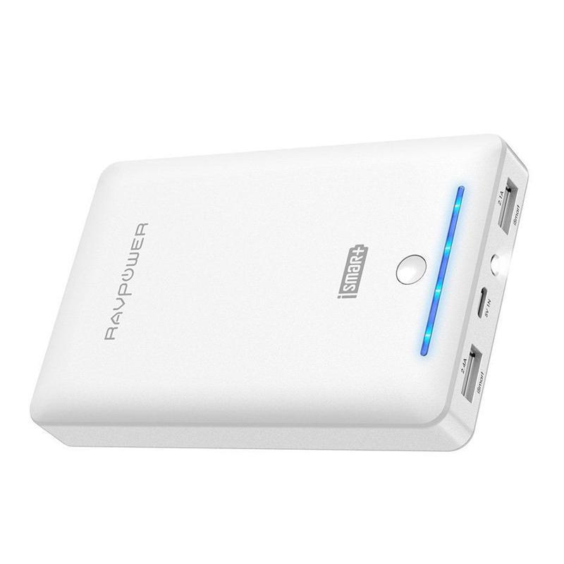 RAVPower 2.4A 16750mAh Portable Power Bank - White