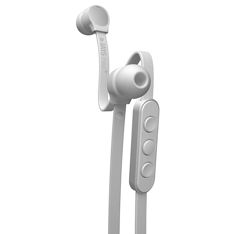 JAYS a-JAYS Four+ In-Line Control Earphones - White/Silver